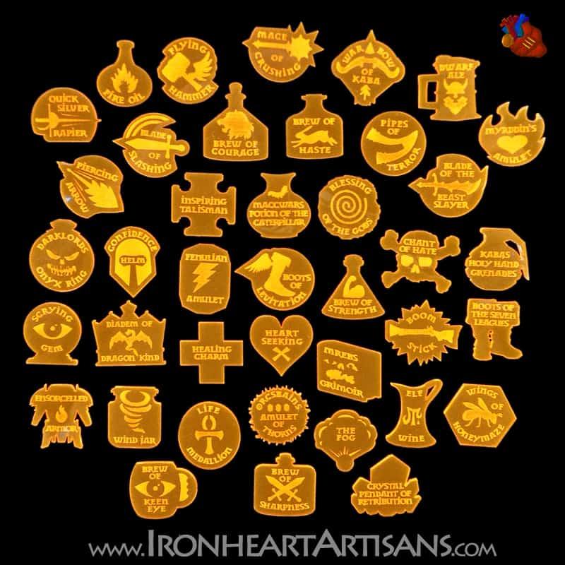 Kings of War Acrylic Magic Item Token Set