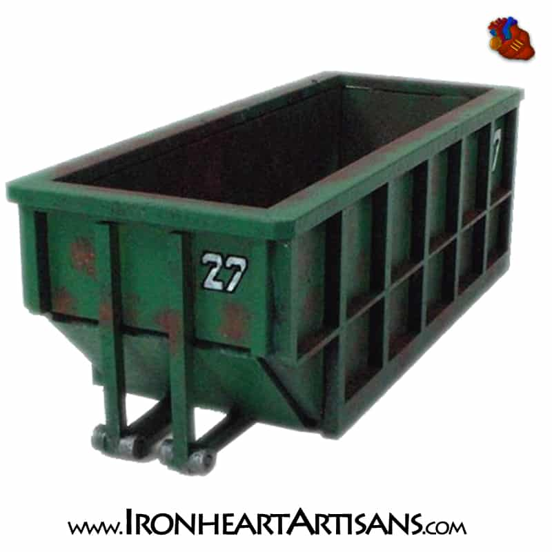 Our new 28mm scale Dumpster