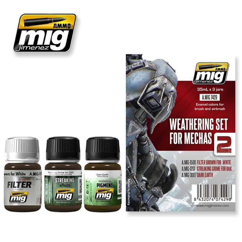 Weathering set for mechs