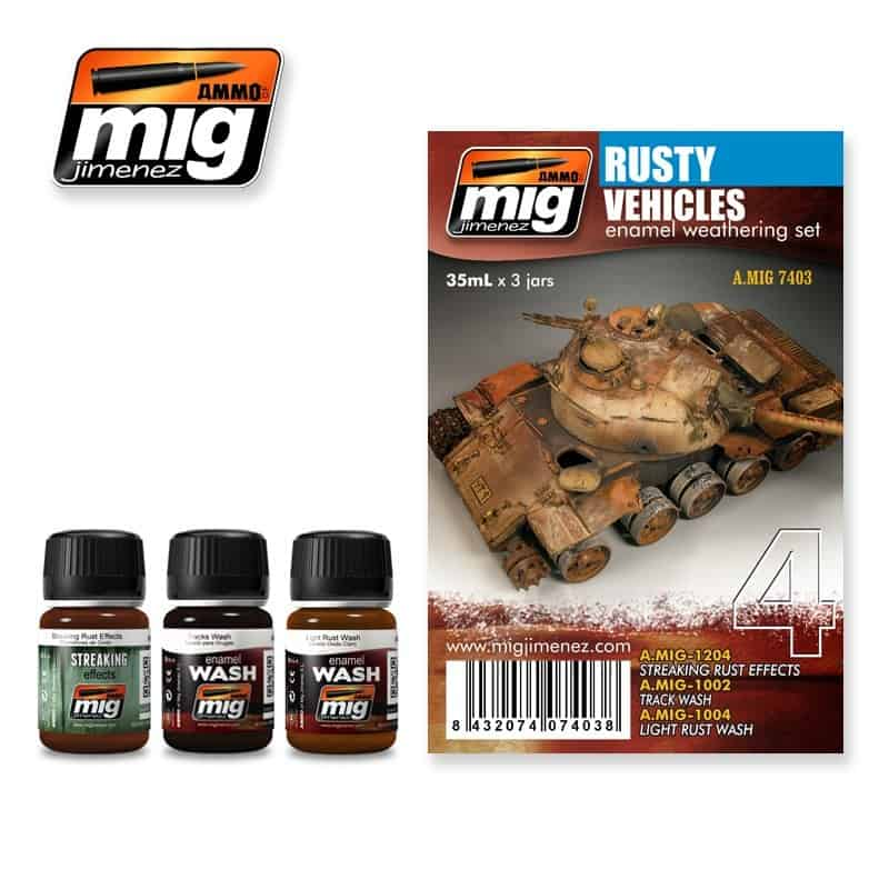 Rusty Vehicles weathering Set