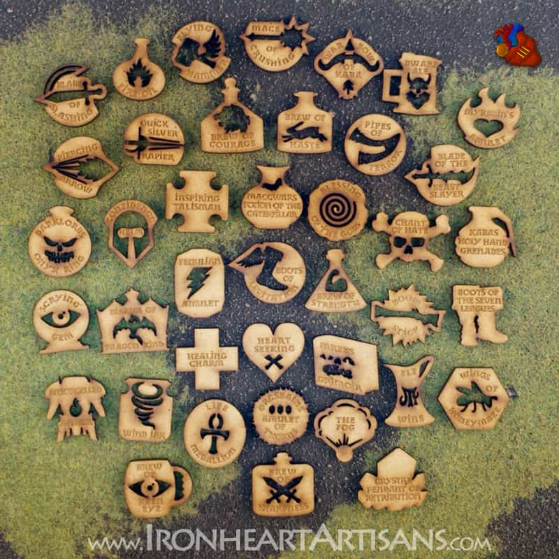 Kings of War Magic Item MDF Token Set