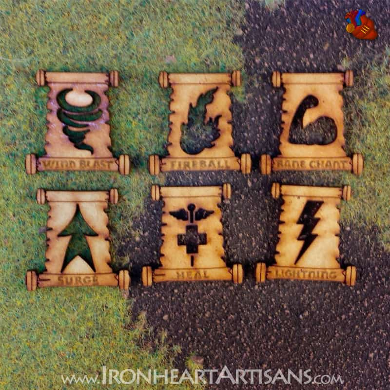 Kings of War MDF Spell Token Set