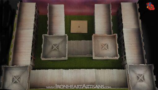 Modular Fortress setup for kings of war siege